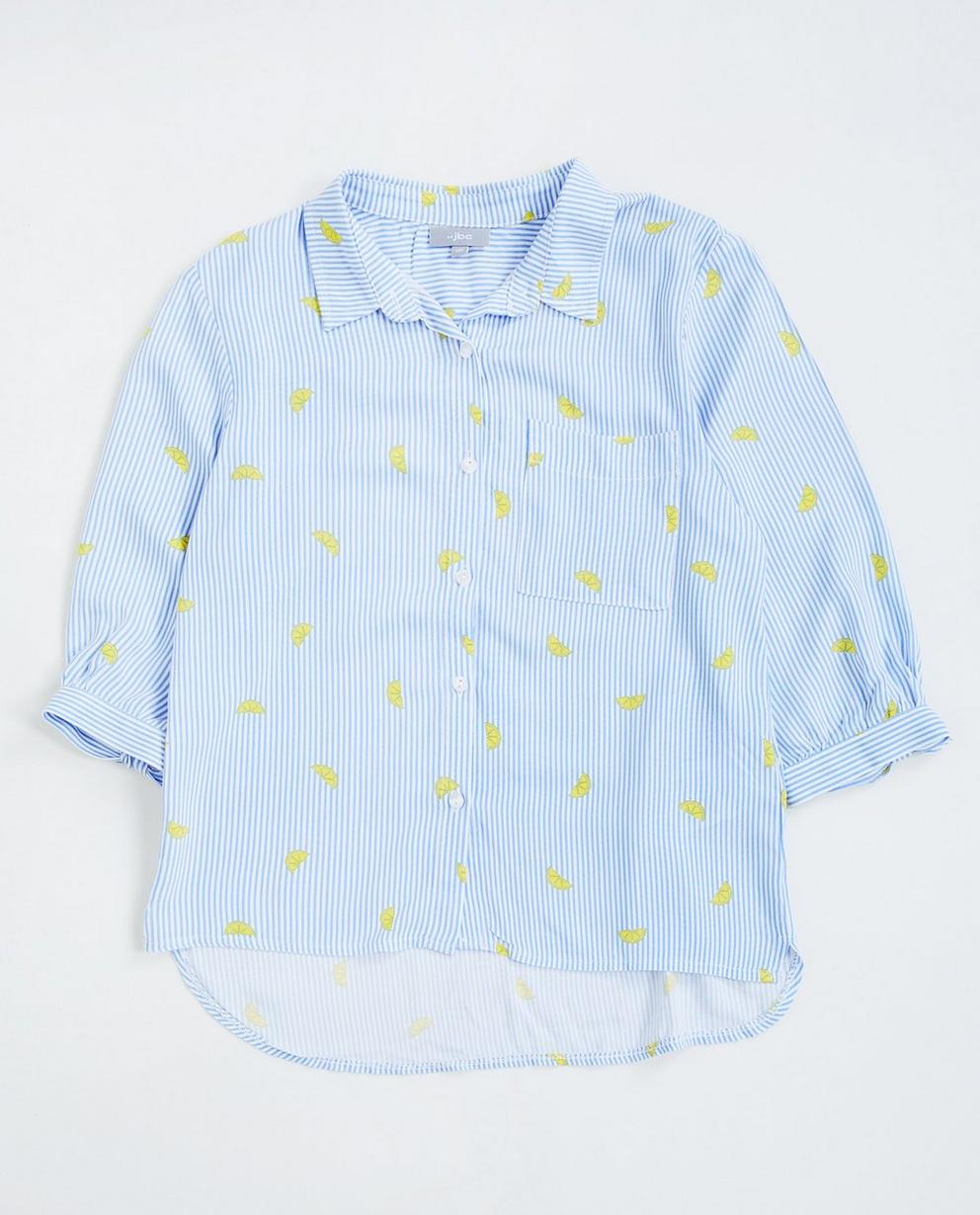 Gestreept hemd - met citroenprint - JBC